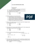 Soal Ujian Semester Kimia Fisik