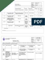 Plan de Evaluacion Quimica 4to año primer lapso
