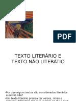 Texto Literário e Texto Não Literátio