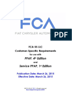 FCA US LLC Customer Specifics for PPAP March 26 2015