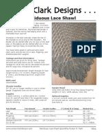 Deciduous Lace Shawl