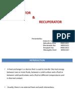 Regenerator & Recuperator