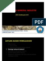 01. Geologi Mineral Industri