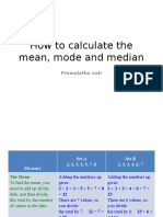 How to Calculate the Mean, Mode and Median LA 2016