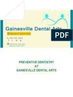 PREVENTIVE DENTISTRY AT GAINESVILLE DENTAL ARTS