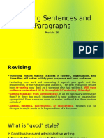 Revising Sentences and Paragraphs