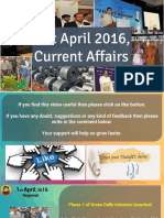 1 April 2016 Current Affairs for Competition Exams