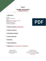 Estructura Informe Psicologico