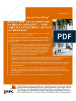 PwC Legal Vietnam NewsBrief New Laws on Enterprises n Investment En