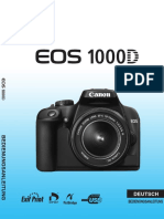Bedienungsanleitung Canon EOS 1000D