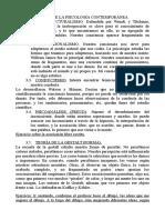 Psicologia Tema 1 3 Corrientes de La Psicologia Contemporanea