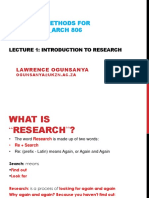 Research Methods_Lecture 01_INTRO to RESEARCH
