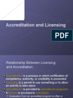 Lec 5 Accreditation and Licensing