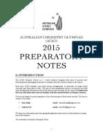 2015 Prep Notes