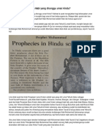 Nabi Muhammad Adalah Nabi Yang Ditunggu Umat Hindu