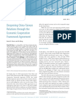 Deepening China-Taiwan Relations Through the ECFA