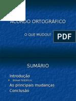 Slides Acordo Ortografico