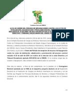 acta de cierre de IMPUGNACIONES contra totalizacion adjudicacion y proclamación cmvea 2010
