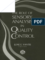 The Role of Sensory Analysis in Quality Control