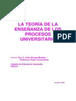 TEORÍA DE LA ENSEÑANZA DE LOS PROCESOS UNIVERSITARIOS