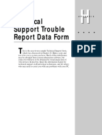 Appendixh (Technical Support Trouble Report Data Form)