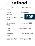 Seafood Price