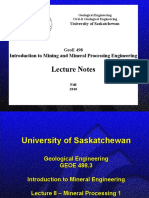U of S GEOE498.3 Course Lecture 8 2010