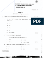 WBUT Semester 2 - Basic Electrical Engineering - Question Paper 2009