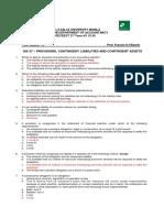 -ToA Quizzer 10 - Provisions, Contingencies