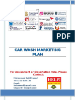 Car Wash Marketing Plan