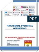 MANAGERIAL SYSTEMS & OPERATIONS