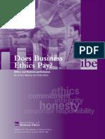Does Bus Ethic Pays Umm