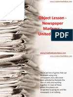 Object Lesson - Newspaper Madness - United in Christ