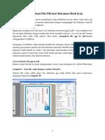 Cara Membuat File PDF Dari Dokumen Hasil Scan