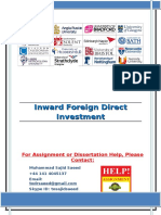 Inward Foreign Direct Investment
