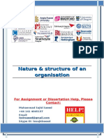 Nature & structure of an organisation