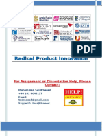 Radical Product Innovation