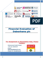 Financial Evaluation of Debenhams plc