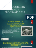 Best Neurosurgery Residency Programs 2016