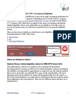 RRB NTPC (Graduate) Eligibility