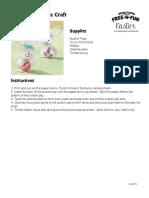 FNF_Easter Paper Bunny Pops Craft