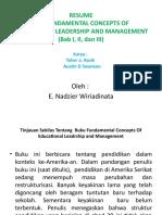 Resume Buku The Fundamental Concepts of Educational Leadership and Management (Bab I, II, dan III)