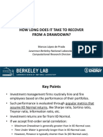 Recover From Drawdown
