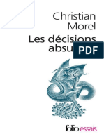 Decisions Absurdes I, Les - Christian Morel