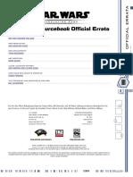 Star Wars  D20 - Errata  Dark Side Sourcebook Errata