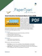 Papertyari_SIDBI