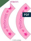 Princess Cupcake Wrapper