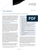 The Bulletin Vol 5 Issue 7 Lessons Risk Mgmt Strategy Protiviti