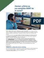 Campaña OSINT