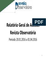 Relatório Revista Observatório 20.01 a 01.04
